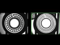 Defect Detection of Inner and Outer Rings of Bearing Cage