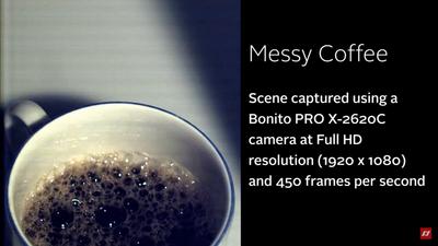 Bonito PRO X-2620C camera at full HD resolution (1920 x 1080) and 450 frames per second