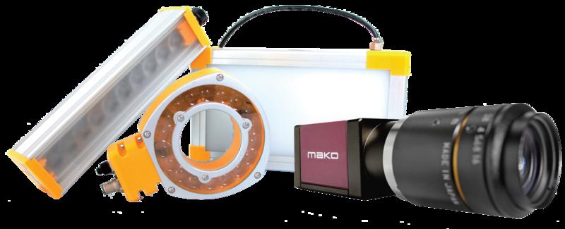 Mako G camera with lighting equipment
